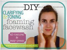 DIY all-natural clarifying & toning foaming facewash