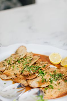 Eva Amurri Martino shares her recipe for the best Veal Scallopini recipe ever! It's really simple, delicious, and doesn't take too long to prep or cook Meat Recipes, Dinner Recipes, Cooking Recipes, Cleaning Recipes, Fish Recipes, Holiday Recipes, Cooking Tips, Dinner Ideas, Beef