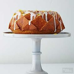 This easy one-bowl lemon cake has a triple dose of citrus flavor.