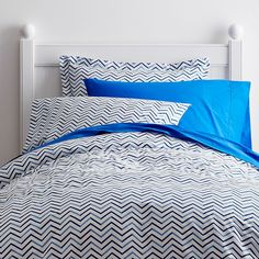 boy Chevron Percale Kids Duvet Cover | Company Kids