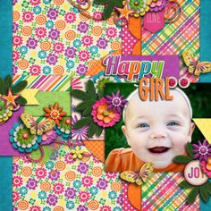 Digital Scrapbook Page by Britt | Happy Days by Bella Gypsy