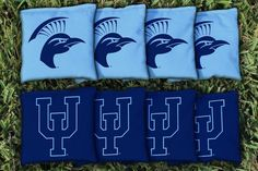 Cornhole Bag Logo Set - Upper Iowa University Peacocks 19385