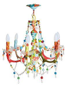 Lámpara de araña de colores