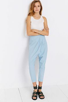 Finders Keepers Matchmaker Pant - Chambray Lovely little Chambray Ankle Pant! Great for showing off your fabulous shoes!