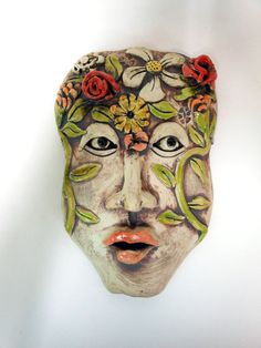 In the Garden of My Mind Ceramic Mask by Uturn on Etsy, $75.00