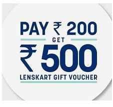 Pay Rs.200 & Get Rs.500 Lenskart Gift Voucher Offer - Best Online Offer