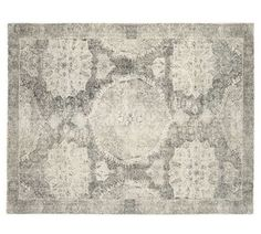 """Pottery Barn Barret Wool Grey 8' X 10"""" Wool Area Rug NEW - Authentic 