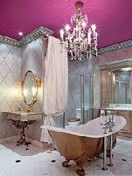 I may have already repinned this but I'm obsessed with the look of this bathroom.