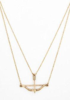 Signed, Sealed, and Quivered Necklace in Gold | Mod Retro Vintage Necklaces | ModCloth.com