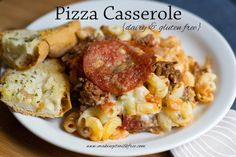 This gluten and dairy free Pizza Casserole looks delicious. Be careful with the pepperoni if you have a casein allergy though - casein can hide in prepackaged meats like pepperoni sometimes. #dairyfree #glutenfree #progressivemedicalcenter