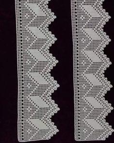 Crochet Boarders, Crochet Rug Patterns, Baby Knitting Patterns, Crochet Shirt, Crochet Lace, Free Crochet, Swedish Embroidery, Filet Crochet Charts, Crochet Curtains