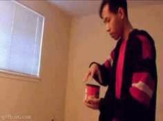 This guy just eating some crisps. | 35 GIFs Of Individuals Who Really Did Nail It