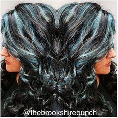 Blue hair don't care  #bluehair #highlights #gobold #funhair #longhair #haircolor