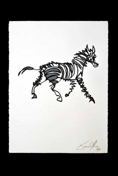 Stripey Horse Hand Painted. via The Cools