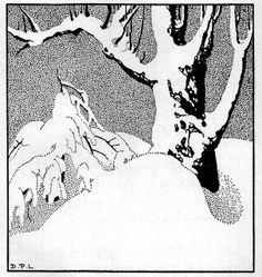 """Winter Solstice ~ """"Stars To-night, verses new and old for boys and girls"""" by Sara  Teasdale who copyrighted in 1930.  Illustrated by Dorothy P. Lathrop.   Published by The MacMillan Co of New York, 1946 edition."""