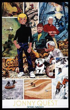 Found on Bing from www.classicjq.com Classic Comics, Classic Cartoons, Classic Tv, Cartoon Books, Comic Books, Race Bannon, Jonny Quest, Old Cartoons, Watch Cartoons