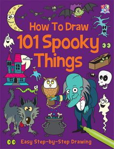 how to draw a spooky halloween house