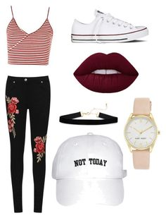 """""""Untitled #18"""" by mia-starr-zamora on Polyvore featuring Topshop, WearAll, Converse and Nine West"""