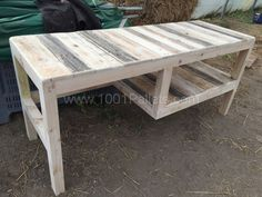 Beautiful Desk With Shelf Out of Five Repurposed Pallets Pallet Desks & Tables