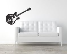 Electric Guitar Removable Vinyl Wall Art, music lover guitar lover gifts for musicians band guitar wall decal guitar wall sticker rock star by StreamlineDesign on Etsy https://www.etsy.com/listing/125777522/electric-guitar-removable-vinyl-wall-art
