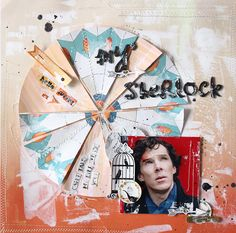 my sherlock - Scrapbook.com - Made with the Glitz Design 77 Collection.