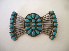 Stunning Old ZUNI Petit Point Cluster by TurquoiseKachina on Etsy