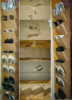 hair styles SAVING CREATION Creation, recycling Storage of cardboard shoes # creation # creation # s Diy Cardboard Furniture, Cardboard Box Crafts, Diy Furniture, Cardboard Organizer, Cardboard Storage, Diy Rack, Diy Shoe Rack, Diy Crafts Hacks, Diy Home Crafts