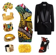 """""""African queen"""" by delphine1971 ❤ liked on Polyvore featuring STELLA McCARTNEY, Daniele Michetti, IRO, Corto Moltedo, Vintage, Michael Kors, Stephanie Kantis, Christian Lacroix and Christian Dior"""