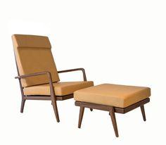 High back RB Lounge Chair and Ottoman