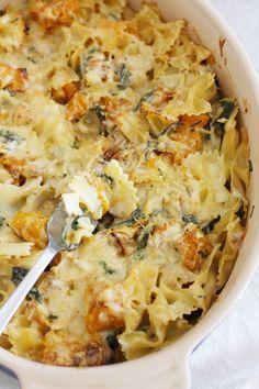 Roast pumpkin, herb & walnut pasta bake, Great Fall Recipe!