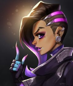Ziqi love U, dodo huang on ArtStation at https://www.artstation.com/artwork/rd52G - More at https://pinterest.com/supergirlsart/ #sombra #overwatch #fanart