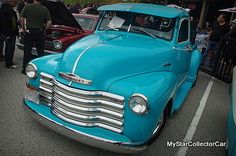 '53 Chevy-done the old fashioned way...read more: http://www.mystarcollectorcar.com/3-the-stars/star-truckin/2550-january-2015-53-chevy-truckdone-old-school-with-no-gadgets.html #53Chevytruck