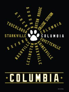 Columbia, Missouri - University of Missouri - SEC Conference teams