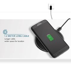 Ultra Slim Qi Wireless Charger Pad for Qi Enable Devices. Estimated Delivery: 2-3 business days.  (Sleep-Friendly) JUST DROP & CHARGE: Compatibility for QI enabled wireless charging devices or devices with QI receiver such as Galaxy S6 / S6 Edge / S6 Edge Plus / S7 / S7 Edge ,LG G4, Nexus 6, Moto Droid Turbo, Nexus 5/7(2013)/4, Nokia Lumia 1020/920/928, MOTO Droid Maxx/Droid MiniSLEEP-FRIENDLY. Instead of intensive stimulation of the red, green or blue LED light of similar products in the…