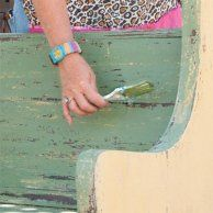 Layer on Green Paint