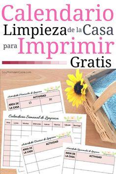 Este es un Calendario Semanal para Limpiar la Casa que puedes imprimir gratis => Dale PIN para guardar, no te lo puedes perder [AD] #imprimibles