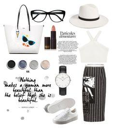 """Black and white favourite"" by nia-yemima on Polyvore featuring Miu Miu, Karl Lagerfeld, Daniel Wellington, Puma, Lipstick Queen, Terre Mère, BCBGMAXAZRIA and Janessa Leone"