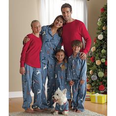 cute idea for family pics~Reindeer Plaid Family Pajamas | Company Kids