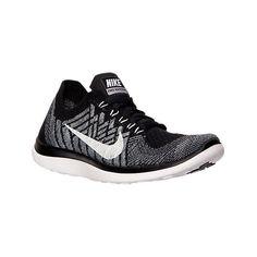 Nike Women's Free 4.0 Flyknit Running Shoes, Black|Grey (450 SAR) ❤
