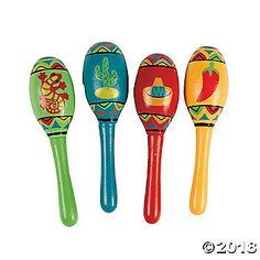 Spruce up your Mexican Fiesta with these small, bright and colorful Fiesta Maracas! Perfect for decorating your Mexican or Latin American themed party, these ...