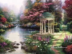 The Garden Of Prayer by Thomas Kinkade