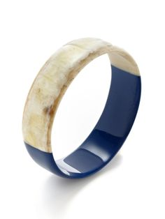 Horn & Lacquer Bangle Bracelet by Kevia at Gilt