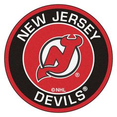FANMATS NHL New Jersey Devils Black 2 ft. x 2 ft. Round Area Rug d28877715