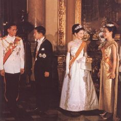 Their Majesties the King and Queen of Thailand and Their Imperial Majesties the Emperor and Empress of Japan (when they were Crown Prince and Crown Princess of Japan)