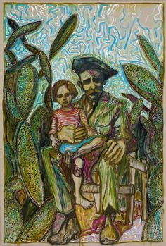 Billy Childish - amongst cactus, sitting | 1stdibs.com