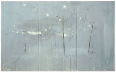 I love it. This is beautiful work.    MICHAEL RAEDECKER, on, 2009, acrylic and thread on canvas