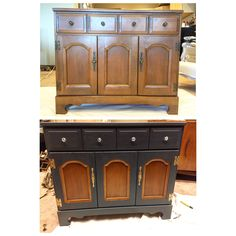 $24.99 Goodwill purchase. Sideboard  redo makeover cabinet chalk paint furniture