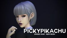 Smoke Hair new mesh for AF at Pickypikachu via Sims 4 Updates