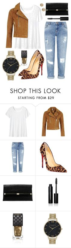 """Enja"" by goingdigi ❤ liked on Polyvore featuring Toast, Topshop, Miss Selfridge, Christian Louboutin, Diane Von Furstenberg, Bobbi Brown Cosmetics and Gucci"