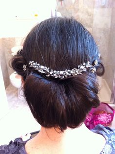 Wedding hair. This was the mother of the bride.